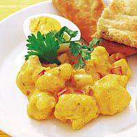 Bloemkool met curry