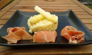 risotte met aspergers en parmaham